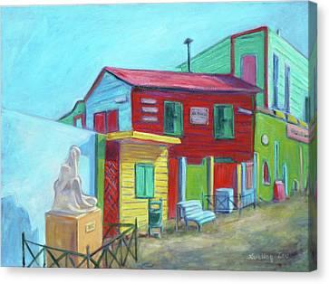 La Boca Morning I Canvas Print by Xueling Zou