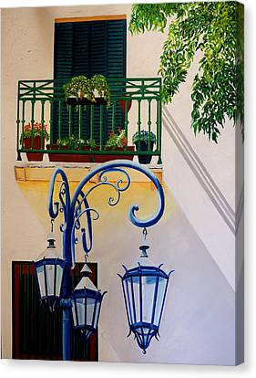 La Boca Shadows Canvas Print