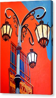 La Boca Street Lamps #21 Canvas Print