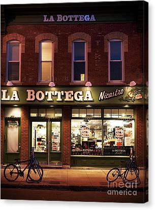 La Bottega Canvas Print by Audrey Wilkie