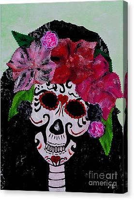 La Calaveras Catrina Radka Canvas Print