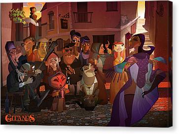 La Calle Canvas Print by Nelson Dedos Garcia