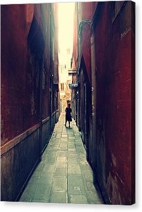 Canvas Print featuring the photograph La Cameriera  by Micki Findlay