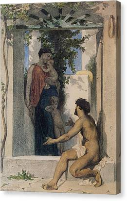 Romaine Canvas Print - La Charite Romaine by William Bouguereau
