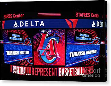 La Clippers Turkish Heritage Canvas Print by RJ Aguilar