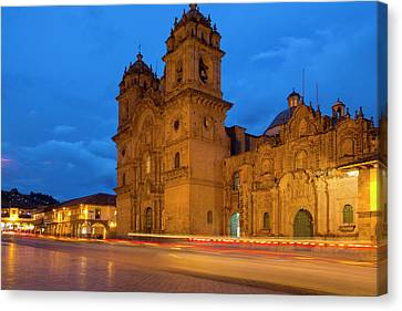 La Compania De Jesus, Church, Plaza De Canvas Print by Douglas Peebles