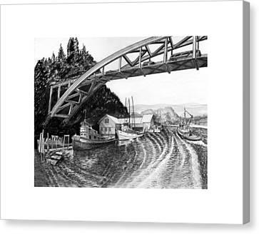 Rainbow Bridge La Connor Washington Canvas Print by Jack Pumphrey