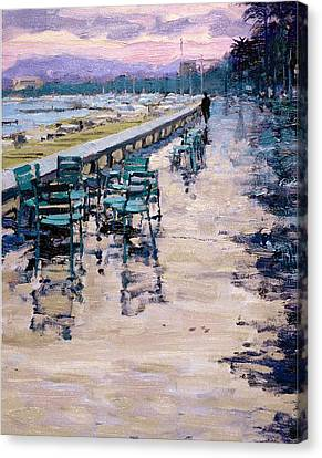 La Croisette Canvas Print by Michael Swanson