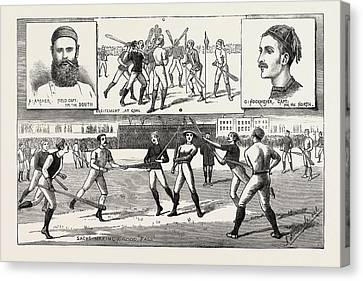 La Crosse Match, Played Last Saturday At Kennington Oval Canvas Print
