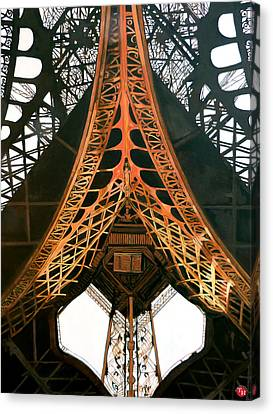 Canvas Print featuring the painting La Dame De Fer by Tom Roderick