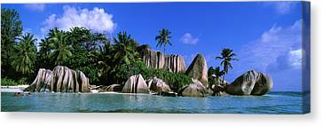 La Digue, Island, The Seychelles, Africa Canvas Print by Panoramic Images