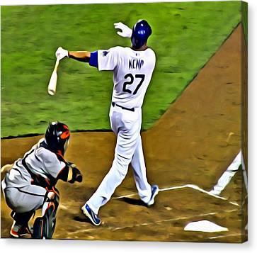 La Dodgers Matt Kemp Canvas Print by Florian Rodarte