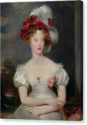 La Duchesse De Berry 1798-1870 C.1825 Oil On Canvas Canvas Print by Sir Thomas Lawrence