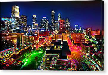 Canvas Print featuring the painting La Experience by Jalai Lama
