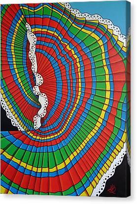 La Falda Girando - The Spinning Skirt Canvas Print