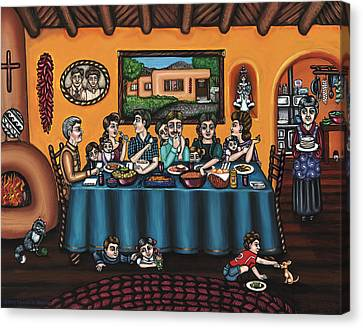 Culture Canvas Print - La Familia Or The Family by Victoria De Almeida
