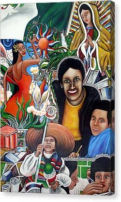 La Familia Canvas Print by Randy Segura