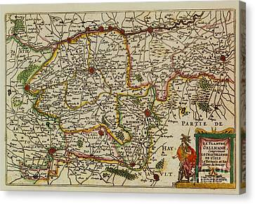 La Fandre Gallicane Vintage Map Canvas Print by Inspired Nature Photography Fine Art Photography