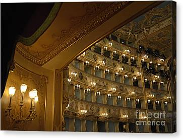 La Fenice Opera Theater Canvas Print by Sami Sarkis