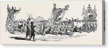La Fete Des Vignerons Canvas Print by English School