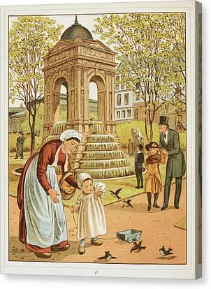 La Fontaine Des Innocents Canvas Print