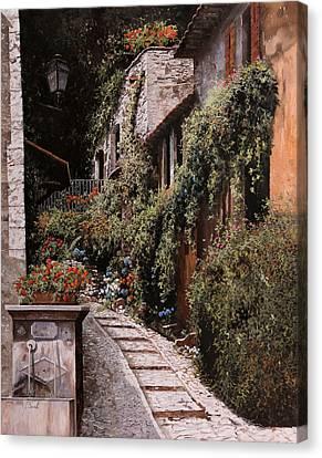 La Fontanella Canvas Print by Guido Borelli