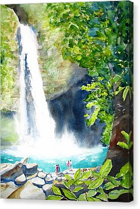 La Fortuna Waterfall Canvas Print by Carlin Blahnik