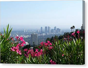 L.a. From Beverly Hills Canvas Print by Dany Lison