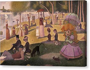 Seurat Canvas Print - La Grande Peche by Guillaume Colomb