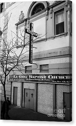 La Gree Baptist Church Harlem Former West End Theatre 125th Street New York City Canvas Print by Joe Fox