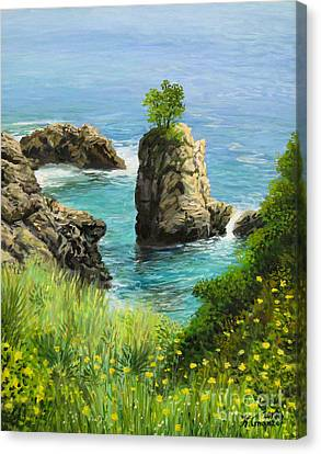 La Grotta - Island Of Corfu Canvas Print by Kiril Stanchev