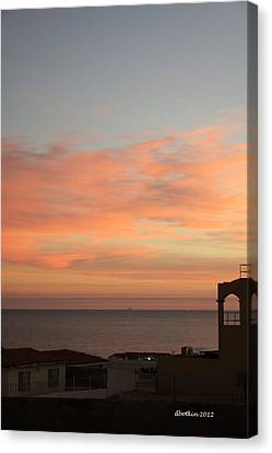 Canvas Print featuring the photograph La Hacienda Sunrise by Dick Botkin