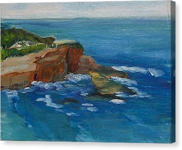 Canvas Print featuring the painting La Jolla Cove 023 by Jeremy McKay