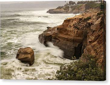 Canvas Print featuring the photograph La Jolla Cove 1 by Lee Kirchhevel