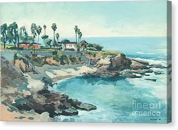 La Jolla Cove In December Canvas Print by Paul Strahm