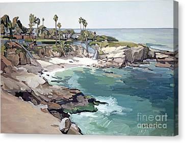 La Jolla Cove Canvas Print by Paul Strahm
