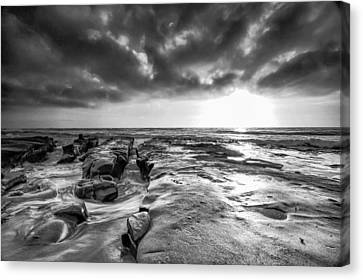 La Jolla In Black And White Canvas Print