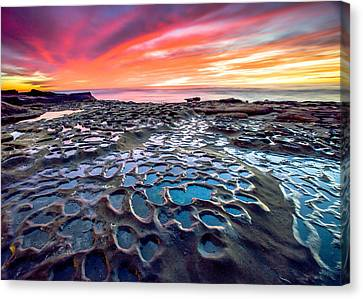 La Jolla Potholes Canvas Print