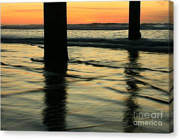 Canvas Print featuring the photograph La Jolla Shores Sunset by John F Tsumas
