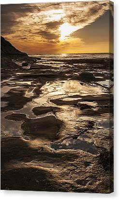 La Jolla Sunset 3 Canvas Print by Lee Kirchhevel
