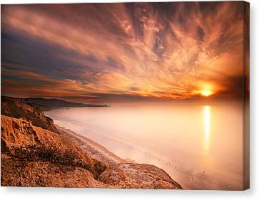 La Jolla Art Canvas Print - La Jolla Sunset 5 by Larry Marshall