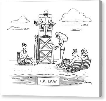 L.a. Law Canvas Print by Mike Twohy