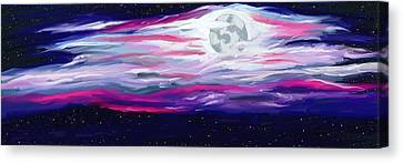 La Luna 5 Canvas Print by Jeanne Fischer