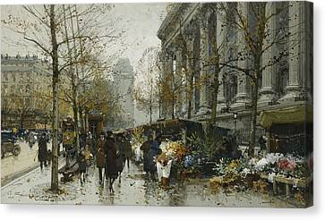 La Madelaine Paris Canvas Print by Eugene Galien-Laloue