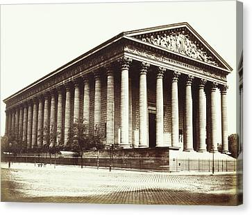 La Madeleine, Paris, France, Édouard Denis Baldus Canvas Print by Artokoloro