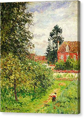 La Maison Des Anglais Eragny Canvas Print