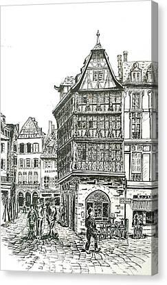 La Maison Kamerzell Canvas Print by Janice Best
