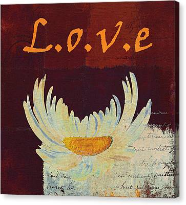 La Marguerite - Love Red Wine  Canvas Print by Variance Collections