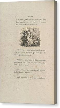 La Marquise De Chiappapomposa Canvas Print by British Library