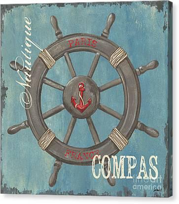 La Mer Compas Canvas Print by Debbie DeWitt